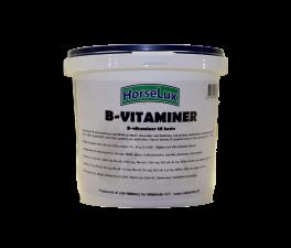 B-vitamin ved fældning/pelssætning, uoplagthed, træthed og manglende appetit, (f.eks. hos konkurrenceheste) samt efter miljø- og foderskift.
