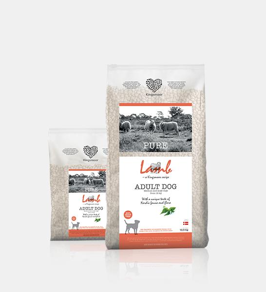 Kingsmoor PURE er et kvalitetsfoder produceret af de bedste danske råvarer, uden korn, farvestoffer, konserveringsmidler og andet kunstigt