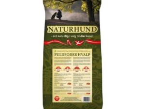 Naturhund hvalp er et hundefoder med 100 % naturlige ingredienser, uden tilsætning af farve eller aromastoffer.