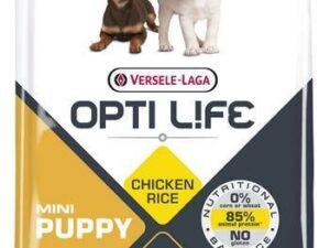 Opti Life PUPPY mini giver din hvalp alle de nødvendige næringsstoffer for en afbalanceret og sund vækst. Det indeholder 85% animalsk protein.