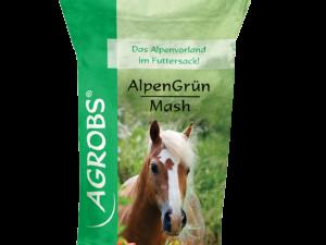 AlpenGrün Mash er et sundt supplementsfoder bl.a. til heste med sart fordøjelsessystem eller diarré, stofskiftefølsomme heste, regenerering og ældre heste
