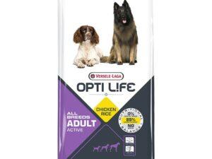 Opti Life Active er til aktive og højtydende hunde med behov for ekstra for energi. Foderet er glutenfrit og uden hvede og majs.